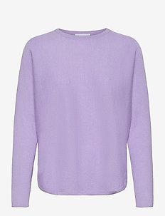 Curved Sweater - tröjor - lavender