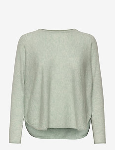 Curved Sweater - sweaters - light green