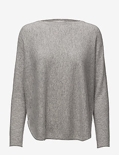 Curved Sweater - cashmere - light grey