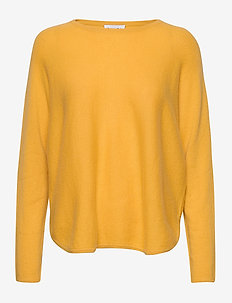 Curved Sweater - gensere - yellow