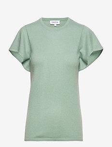 T-shirt Flounce - DUSTY GREEN