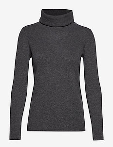 Loose Turtleneck - DARK GREY