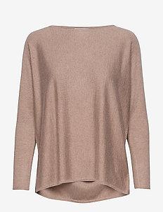 Lady Big Slit Sweater - MINK