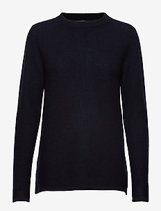 Semipolo Slit Sweater - NAVY