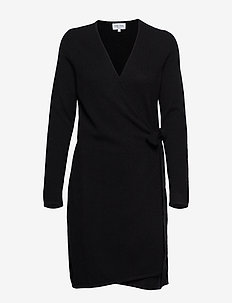 Wrap Over Dress - BLACK