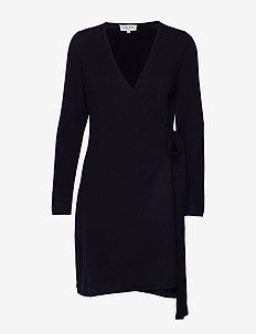 Wrap Over Dress - NAVY