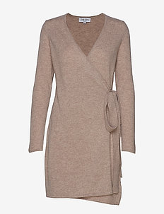Wrap Over Dress - SAND