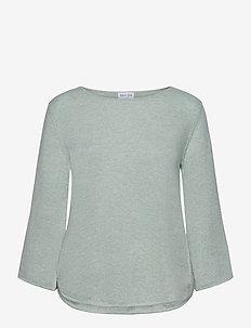 Quarter Wide Sleeve Sweater - jumpers - light green