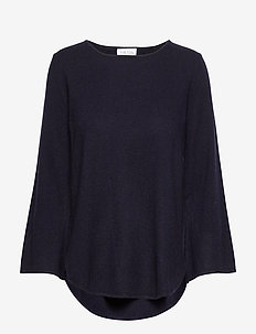 Quarter Wide Sleeve Sweater - navy