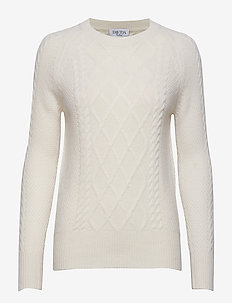 Cable Detail Sweater - WHITE