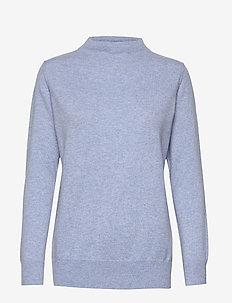 Funnel Neck Sweater - cashmere - dusty light blue