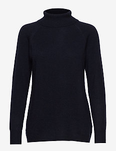 Raglan Turtleneck Loose Sweater - NAVY