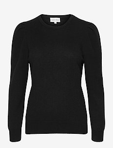 Puff Sleeeve Sweater - cashmere - black