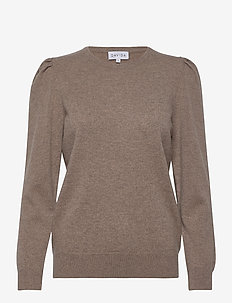 Puff Sleeeve Sweater - gensere - mink