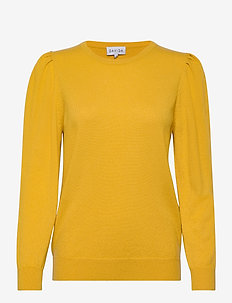 Puff Sleeeve Sweater - gensere - yellow