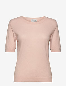 T-shirt Oversized - knitted tops - light pink