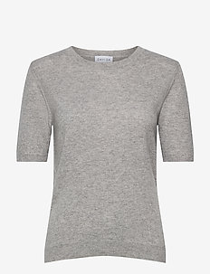 T-shirt Oversized - knitted tops - ligth grey