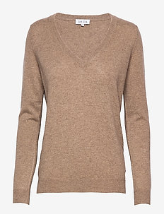 V-neck Loose Sweater - MINK