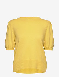 Puff Shoulder Top - neuletopit & t-paidat - yellow