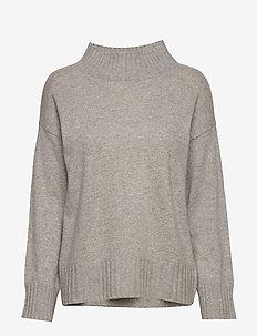 High Neck Sweater - kashmir - light grey