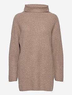 Oversized Rib Sweater - cashmere - mink