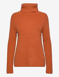 Raglan Rib Loose Fit Sweater - kaszmir - dark rust
