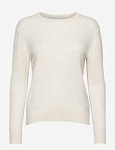 Dotted Sweater - sweaters - white