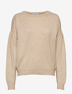 Volume Sleeve Sweater - sweaters - light beige