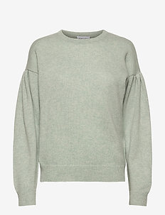 Volume Sleeve Sweater - sweaters - light green