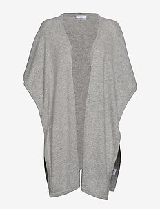 Open Poncho - LIGHT GREY