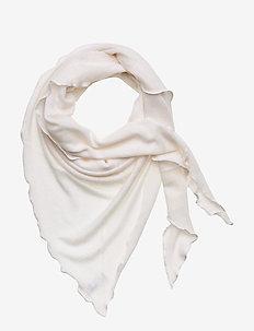Triangle Scarf - tørklæder - white
