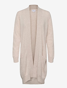 Pocket Long Cardigan - cardigans - light beige