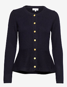 Peplum Jacket - NAVY