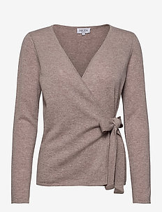 Wrap Over Cardigan - vesten - sand