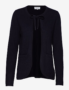 Tie Neck Cardigan - NAVY