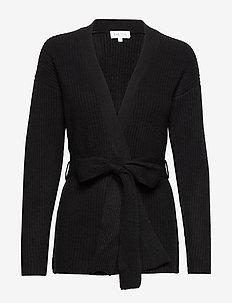 Ribbed Kimono - kasjmier - black