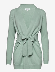 Classic Long Cardigan - DUSTY GREEN