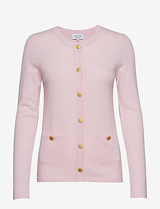 Cardigan Gold Buttons - LIGHT PINK