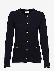 Cardigan Gold Buttons - cashmere - navy