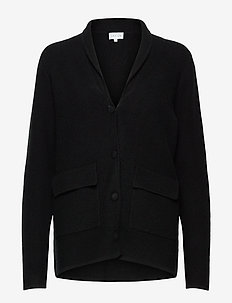 Shawl Collar Jacket - cardigans - black