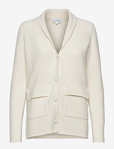 Shawl Collar Jacket - cardigans - white