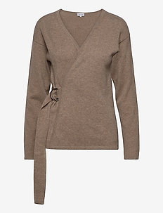 Side Belt Cardigan - cardigans - mink