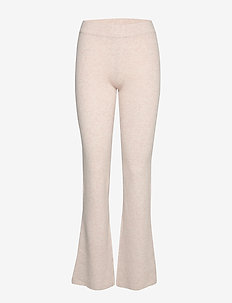 Rib Pants - bukser med brede ben - light beige