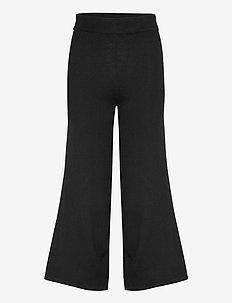 Culotte Pants - wide leg trousers - black