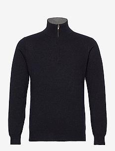 Man Half Zip - truien met halve rits - navy