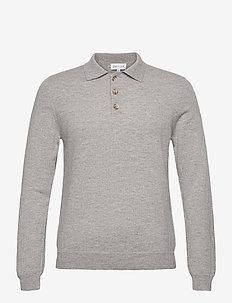 Man Collar - langärmelig - light grey
