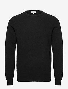 Man O-neck plain - tops - black