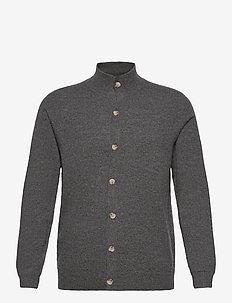 Man Cardigan Buttons - basic-strickmode - dark grey
