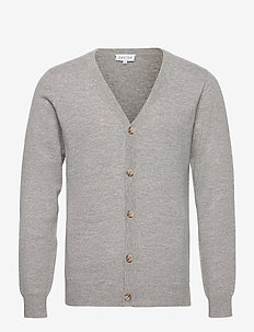 Man V Cardigan - tricots basiques - light grey