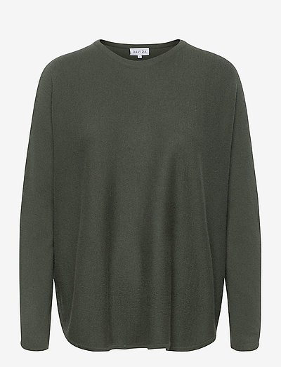 Curved Sweater - trøjer - army green